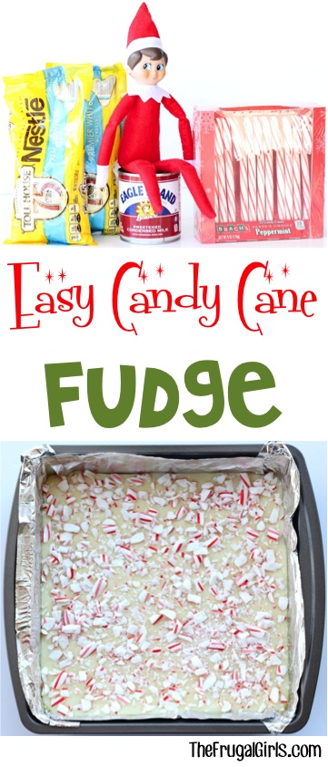 Candy Cane Fudge Recipe from TheFrugalGirls.com