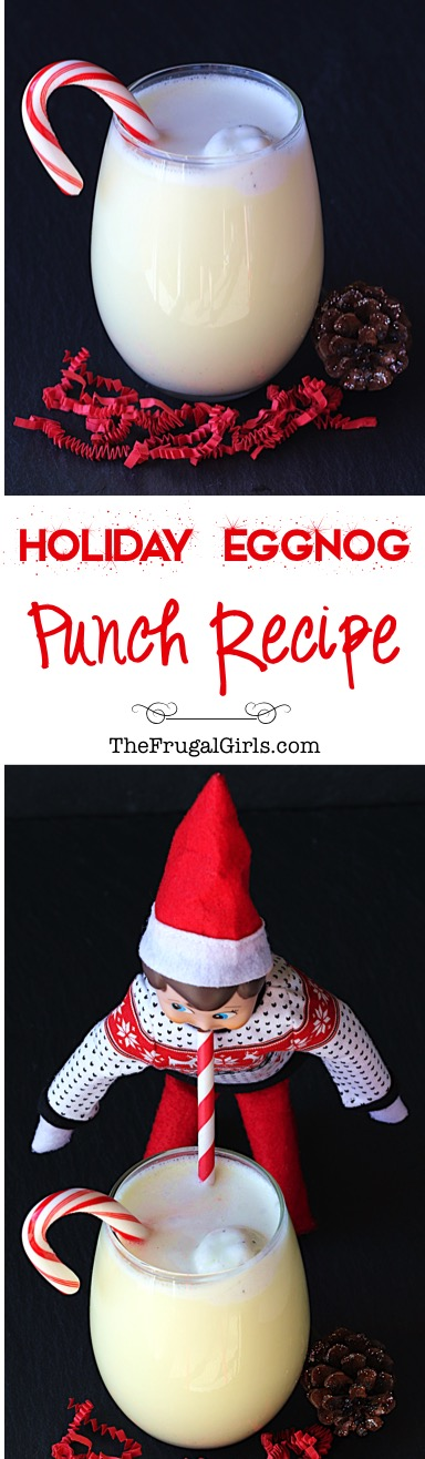 Holiday Eggnog Punch Recipe at TheFrugalGirls.com