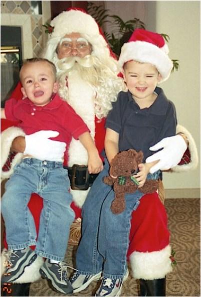 Santa and Boys