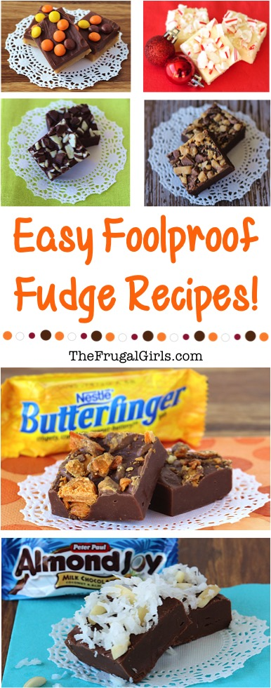 Yummy Fudge Recipes from TheFrugalGirls.com