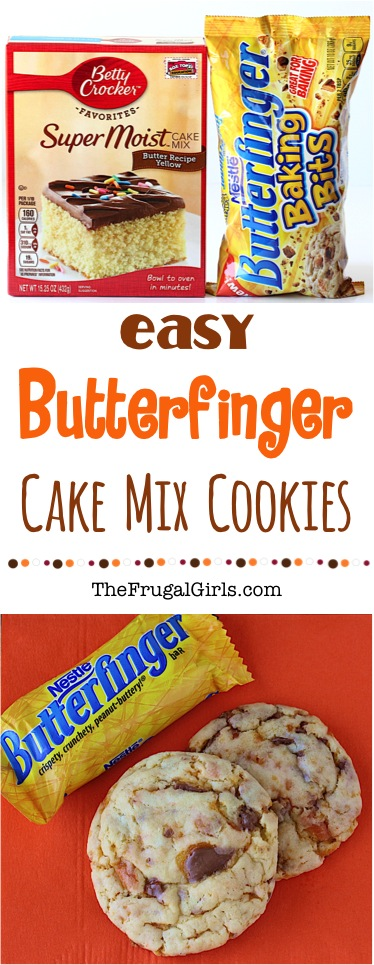 Butterfinger Cookie Recipe from TheFrugalGirls.com