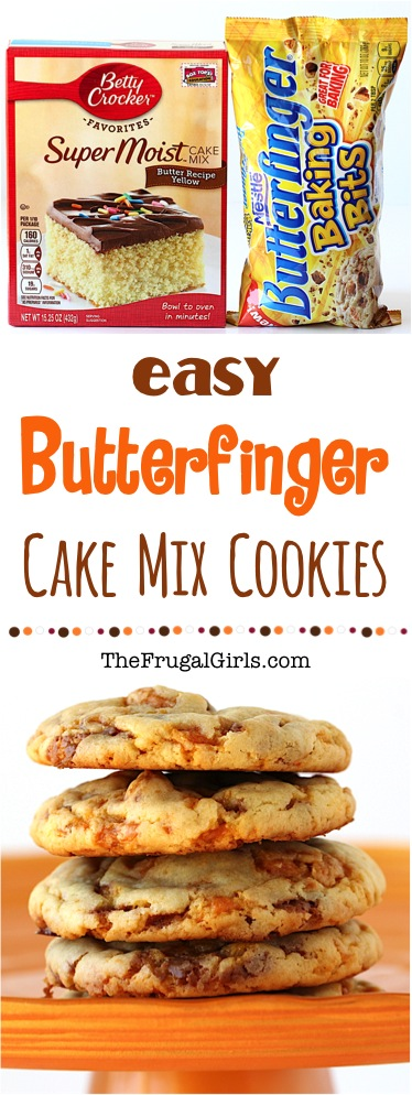 Butterfinger Cookies Recipe from TheFrugalGirls.com