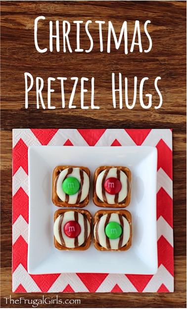Christmas Pretzel Hug Recipe at TheFrugalGirls.com
