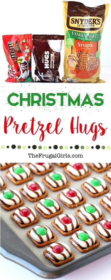 Christmas Pretzel Hugs Recipe at TheFrugalGirls.com