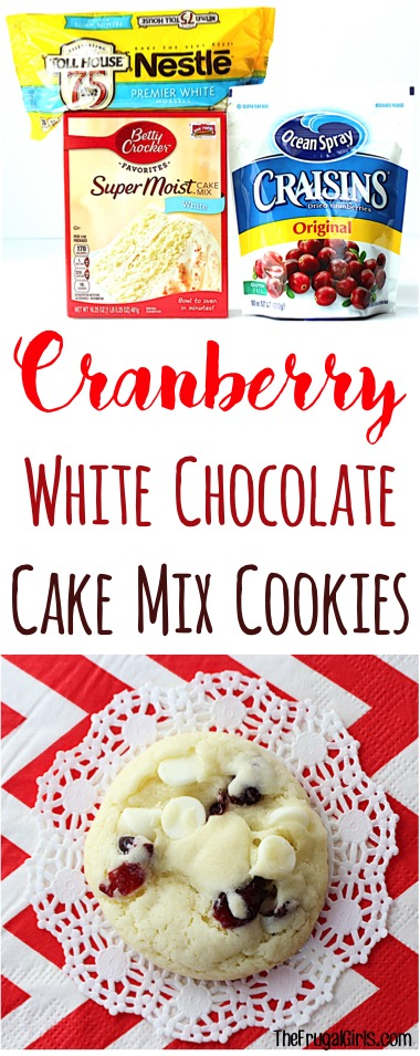 Cranberry White Chocolate Cookie Recipe at TheFrugalGirls.com