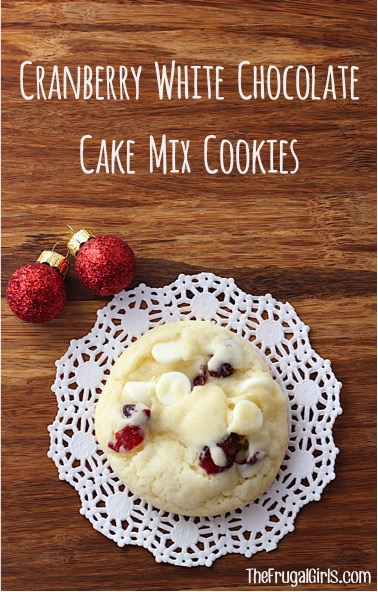 Cranberry White Chocolate Cookie Recipe from TheFrugalGirls.com