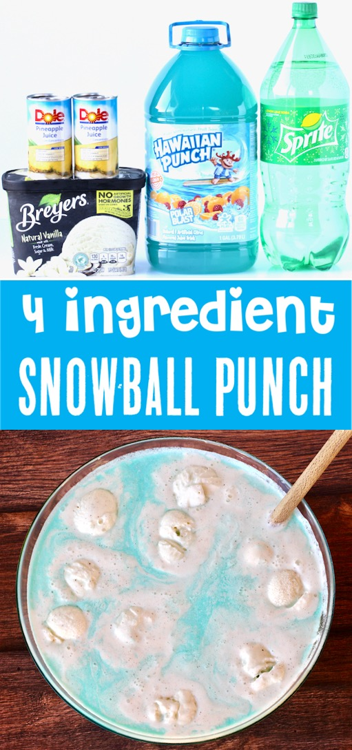 Party Punch Recipes Kids and Adults will LOVE - Easy Snowball Blue Punch Recipe