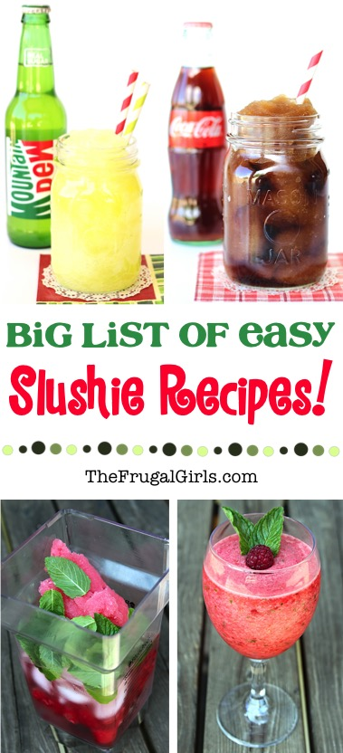 Best Slushie Recipes from TheFrugalGirls.com