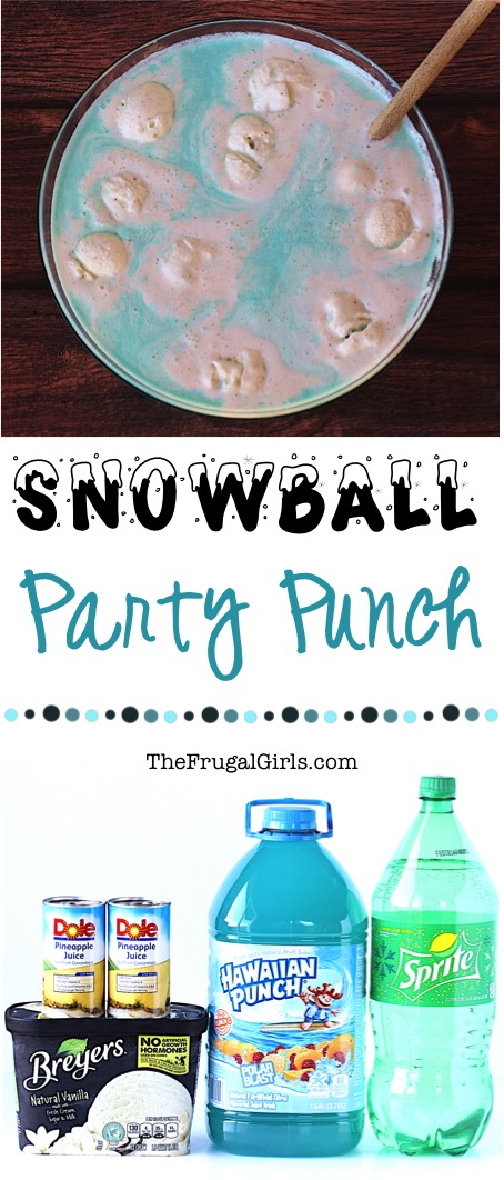 Blue Party Punch Recipe from TheFrugalGirls.com