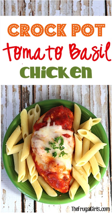 Crock Pot Tomato Basil Chicken Recipe at TheFrugalGirls.com