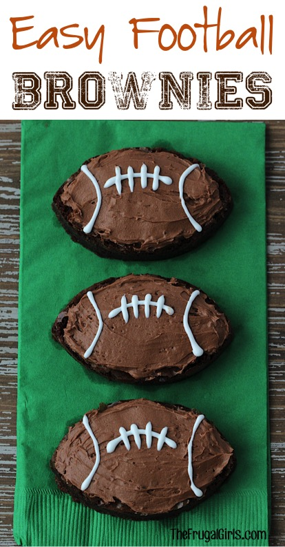 Easy Football Brownie Recipe from TheFrugalGirls.com