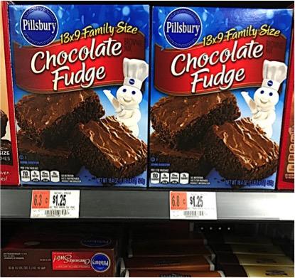 Pillsbury Chocolate Fudge Brownies