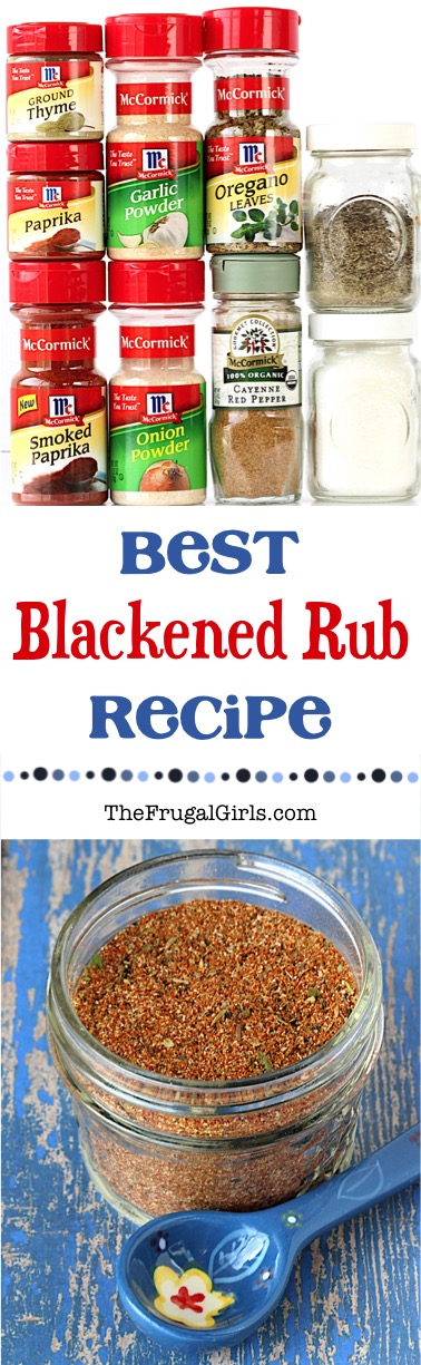 Blackened Rub Recipe from TheFrugalGirls.com