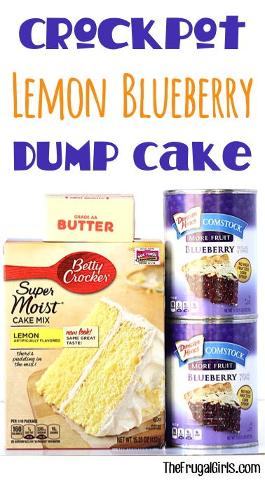 Easy Crockpot Lemon Blueberry Dump Cake Recipe at TheFrugalGirls.com