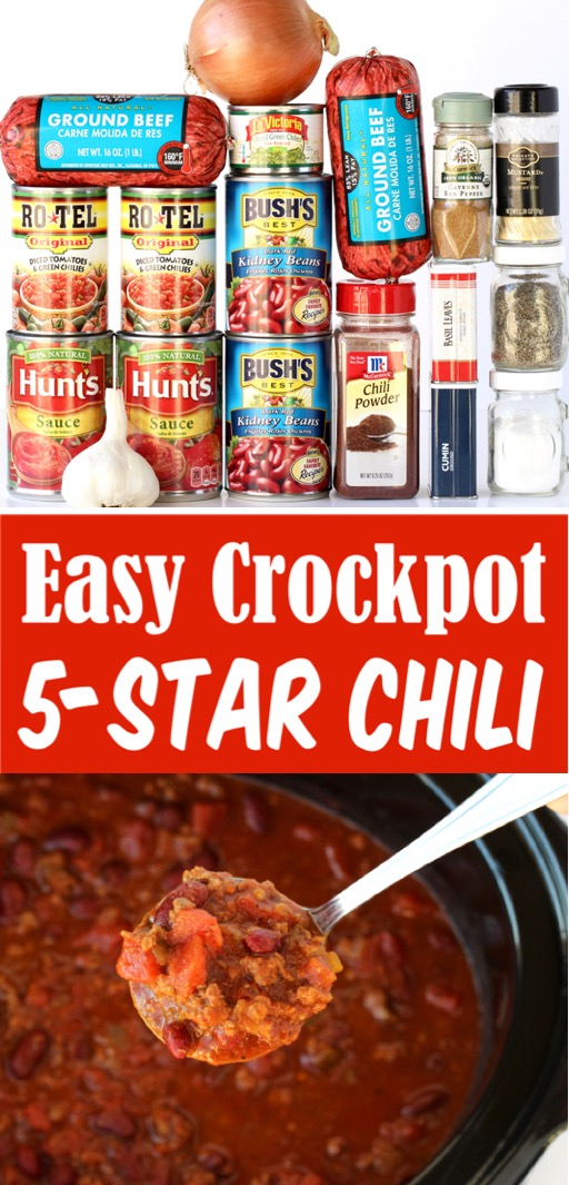 Slow Cooker Chili Recipe Easy Beef Crockpot Dinner