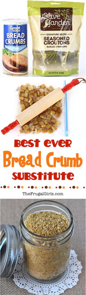 Bread Crumb Substitute from TheFrugalGirls.com