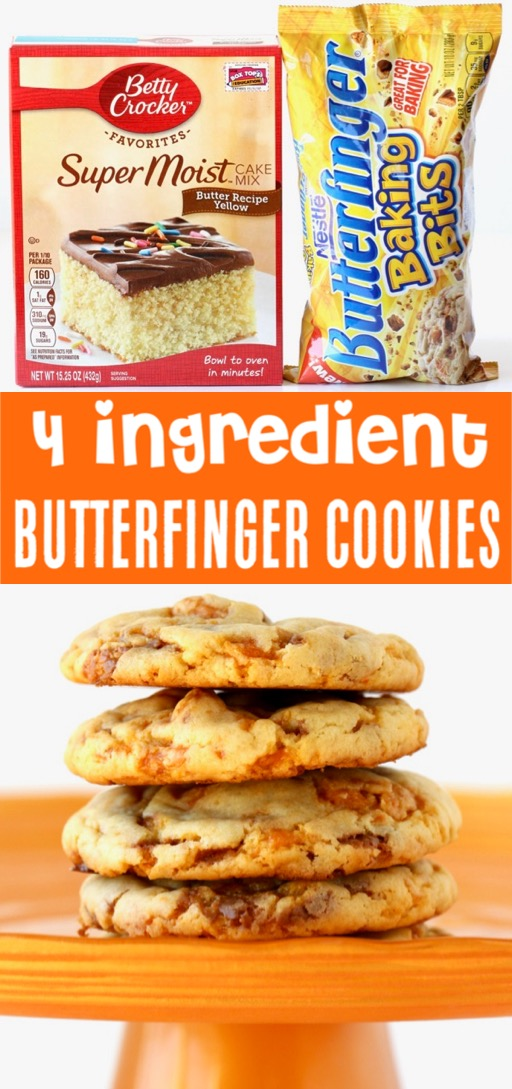 Cake Mix Cookies Recipes Easy Butterfinger Cookie Recipe