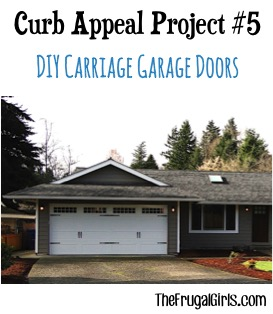 DIY Carriage Garage Doors Curb Appeal Project