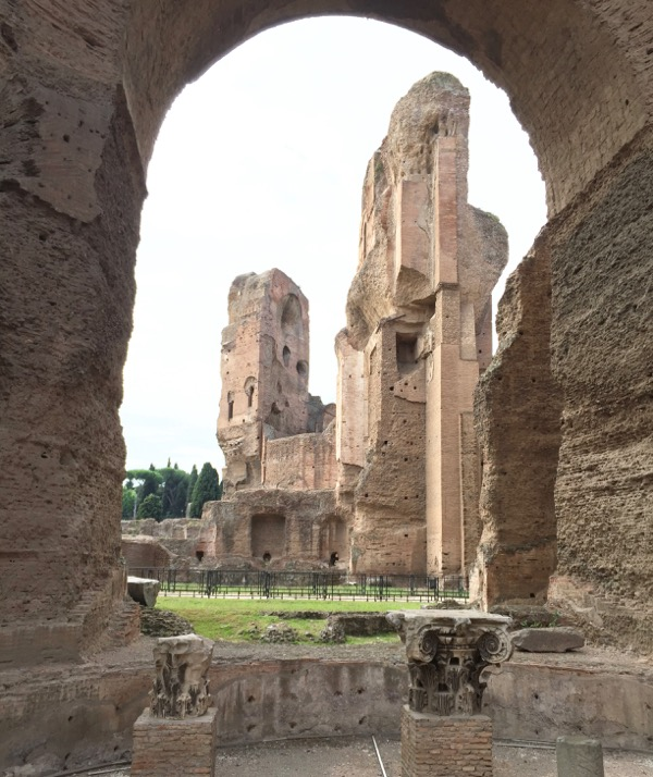 Top Rome Italy Travel Tips Roman Baths at Caracalla from TheFrugalGirls.com