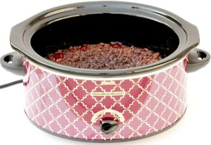 Crock Pot Chocolate Cherry Dump Cake Recipe from TheFrugalGirls.com