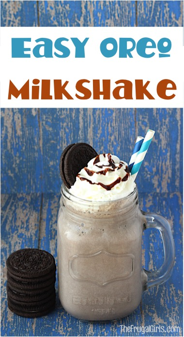 Oreo Milk Shake Recipe at TheFrugalGirls.com