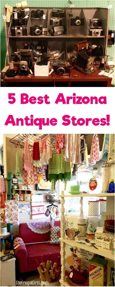 Best AZ Antique Stores - Phoenix Arizona Tips from TheFrugalGirls.com