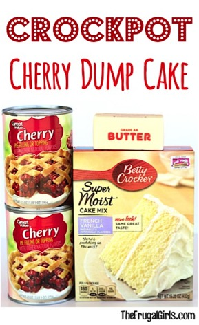 Crockpot Cherry Dump Cake Recipe from TheFrugalGirls.com