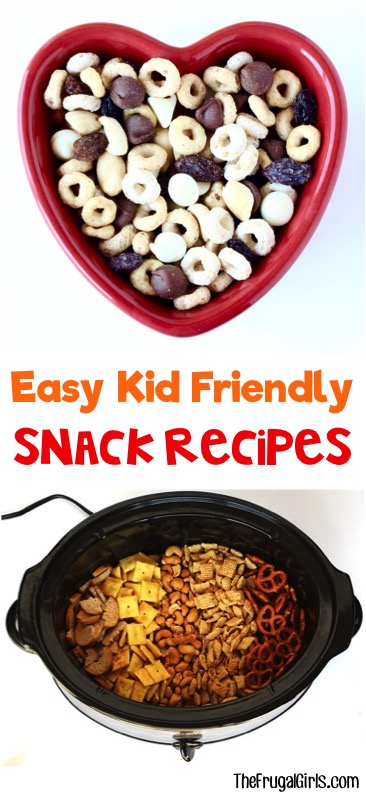 Easy Kid Friendly Snack Recipes from TheFrugalGirls.com