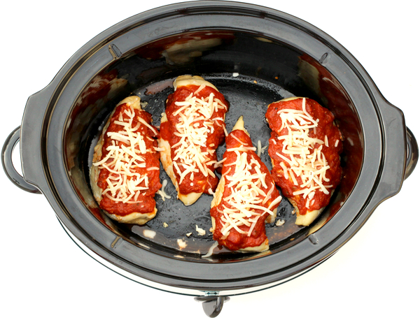 Slow Cooker Pepperoni Chicken Recipe from TheFrugalGirls.com