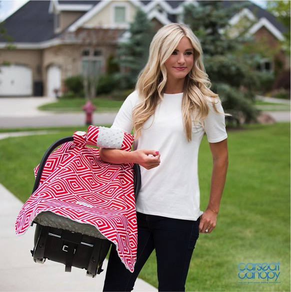 Free Canopy for Baby Carseats at TheFrugalGirls.com
