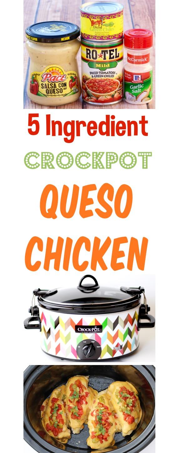 Crockpot Queso Chicken Easy Recipe