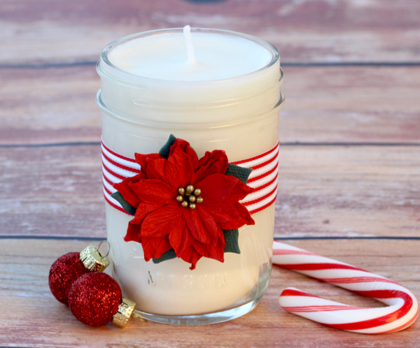 Peppermint Homemade Soy Candles DIY Tutorial from TheFrugalGirls.com