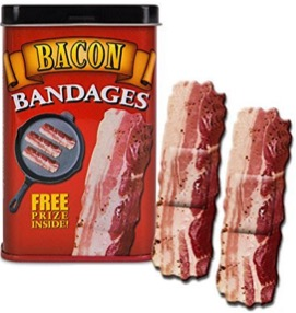 Bacon Shaped Adhesive Bandages