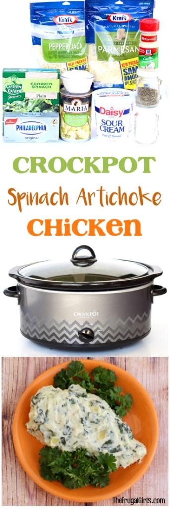 easy-crockpot-spinach-artichoke-chicken-recipe-from-thefrugalgirls-com
