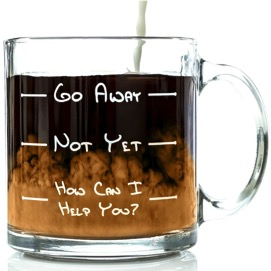 Go Away Glass Coffee Mug
