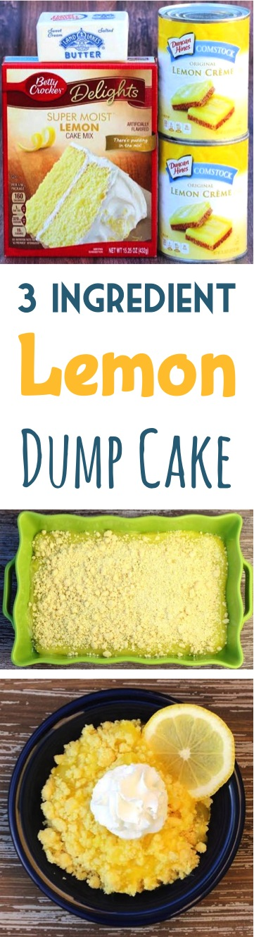 Crazy Easy Lemon Dump Cake