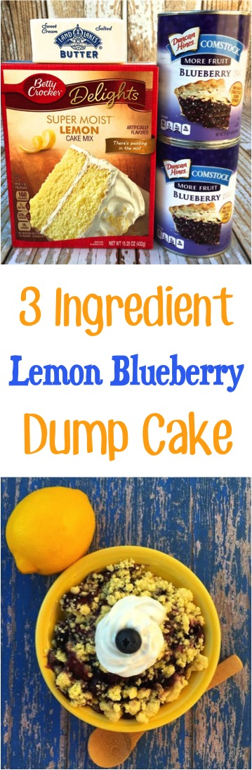 Lemon Blueberry Dump Cakes