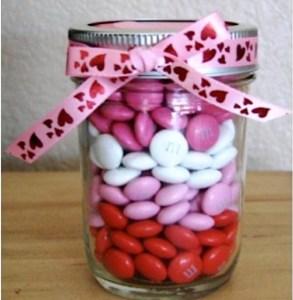Valentine's Day M&M Gift in a Jar