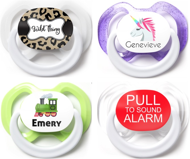 3 Free Pacifiers for Babies! {Customize Name & Design} at TheFrugalGirls.com