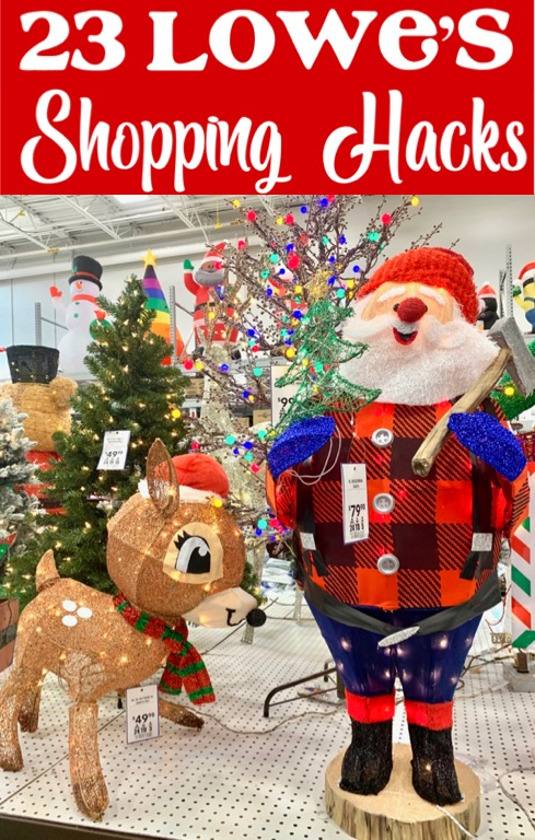 Christmas Decor Ideas - Outdoor Decorations from Lowes + Hacks to Save BIG