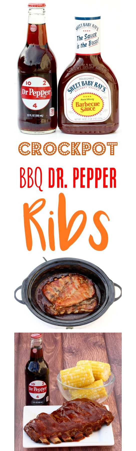 Crockpot Barbecue Dr. Pepper Ribs Recipe from TheFrugalGirls.com