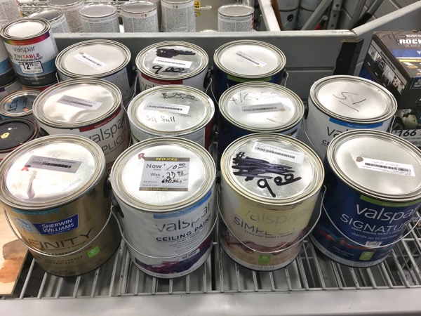 Discount Paint at Lowes