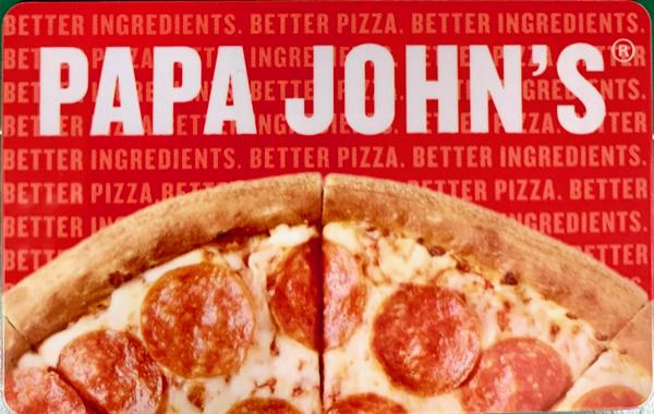 Free Papa John's Gift Cards