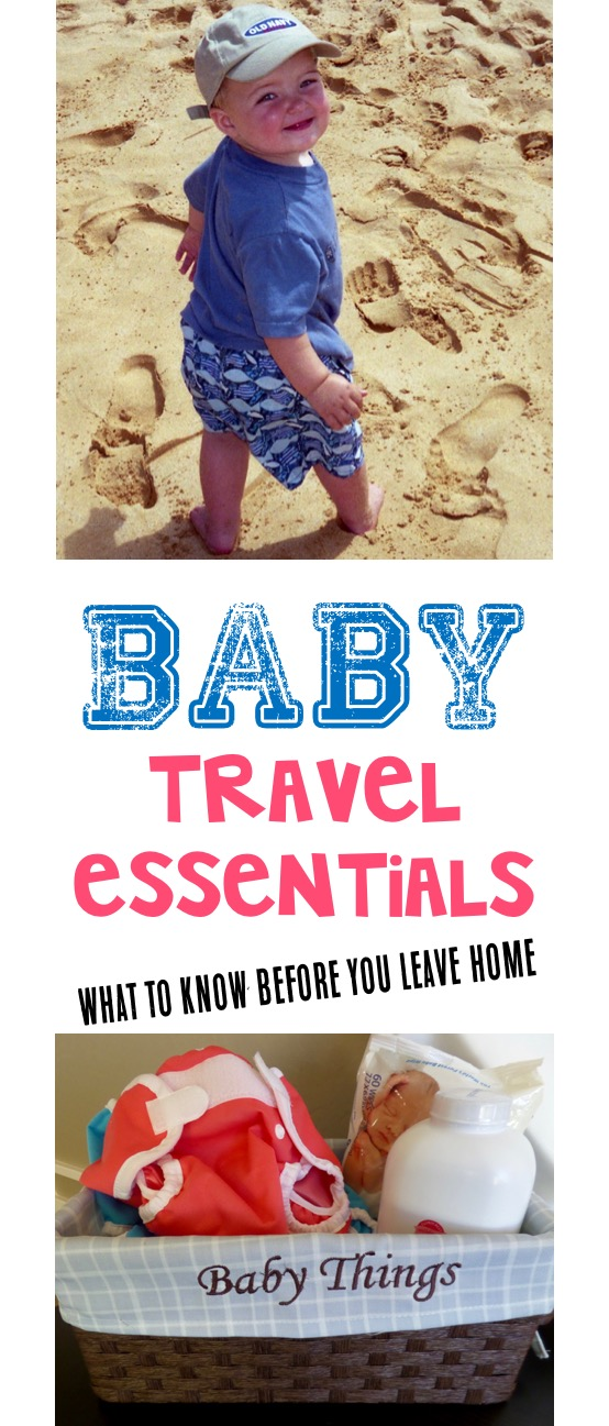 Baby Travel Essentials and Gear Checklist from TheFrugalGirls.com