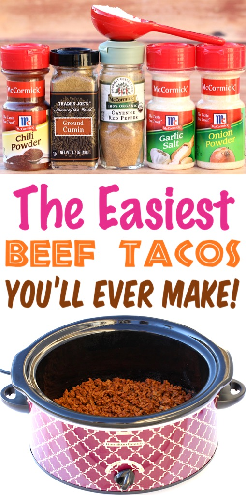 Crockpot Taco Meat   Easy Homemade Taco Seasoning for your Slow Cooker Tacos