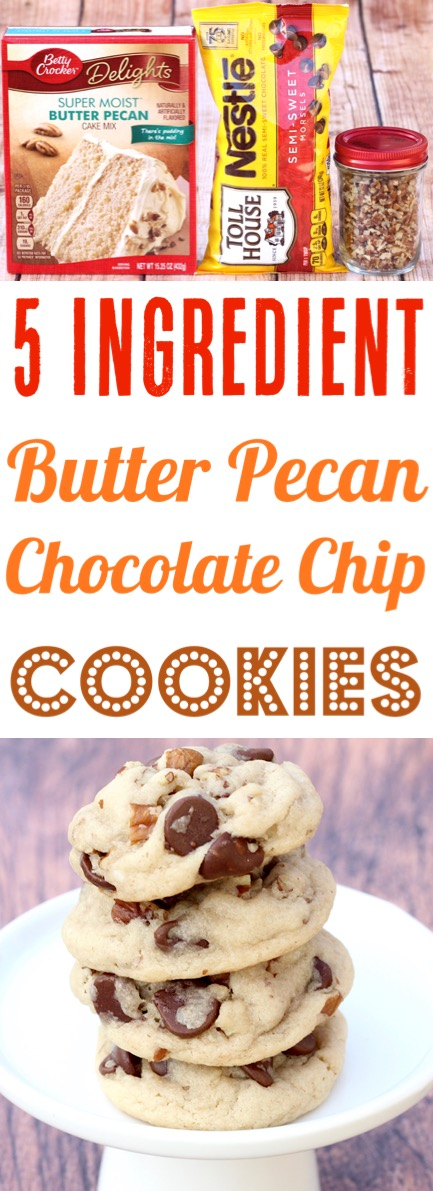 Pecan Cookies Recipes Simple Chewy Easy Butter Pecan Chocolate Chip Cookie Recipe