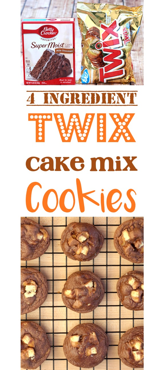Twix Cookies Easy Cake Mix Cookie Recipe