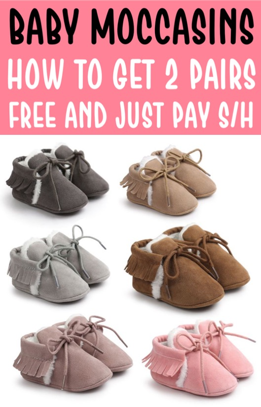Baby Clothes Boy or Girl Moccassins for Newborns and older