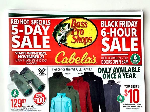 Cabela's Bass Pro Black Friday Ad