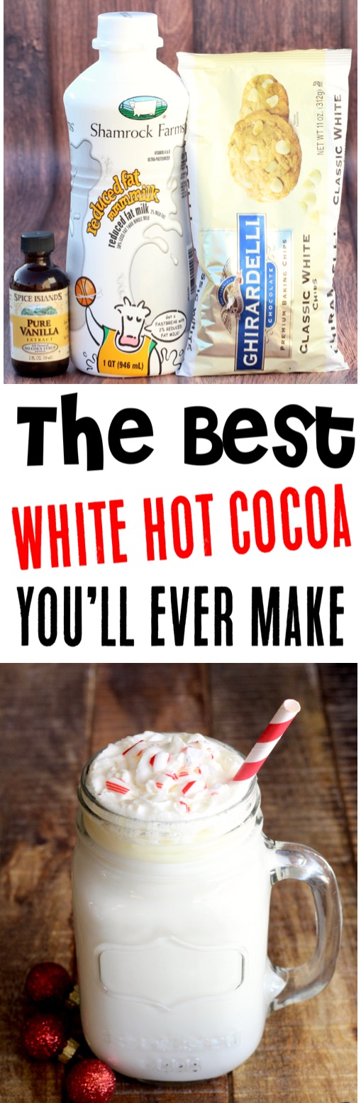 Crockpot Hot Chocolate for a Crowd Recipes Easy White Hot Cocoa Recipe